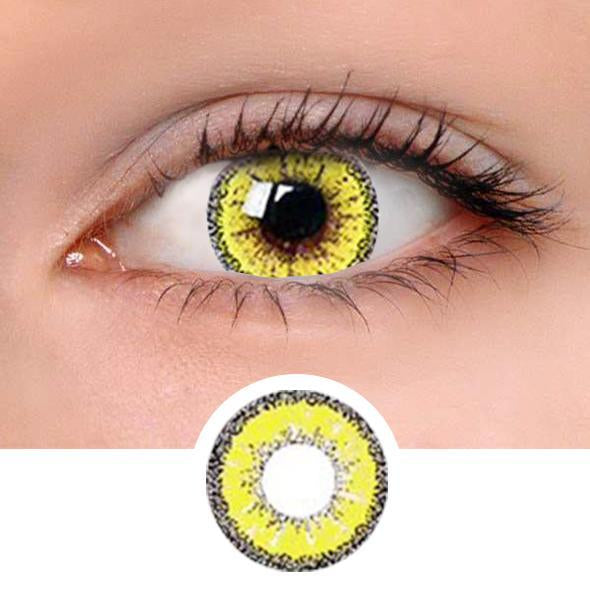 Yellow Wrasse Gold Colored Contact Lenses
