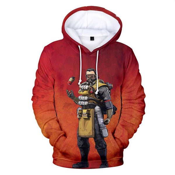 Unisex Apex Legends Hoodies Realistic 3d Printed Hooded Pullover