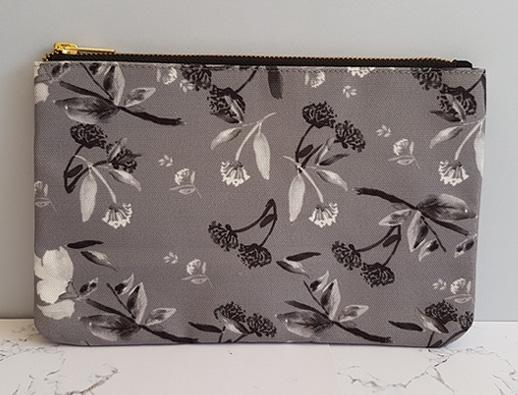 Harvest Collection - Clutch Bag - Oriental Black and White Florals