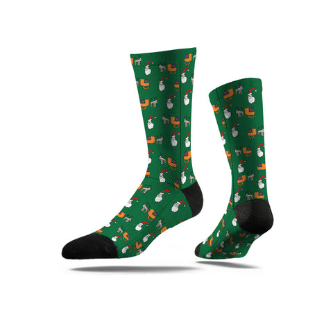 Avenue Originals Socks- Christmas Green