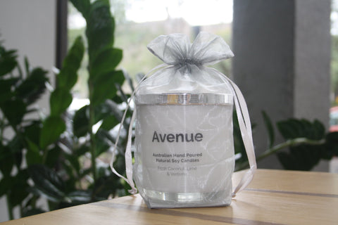 Avenue Originals Candles- Fresh Coconut, Lime and Verbena