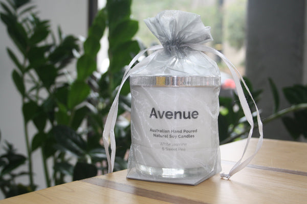 Avenue Originals Candles- White Jasmine and Sweet Pea