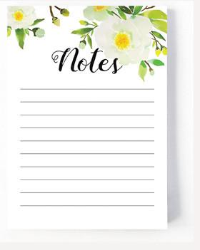 Harvest Collection -  Notepad - Paeonia Krinkle
