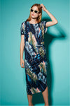 Nova Draped Dress in Jamaica Print