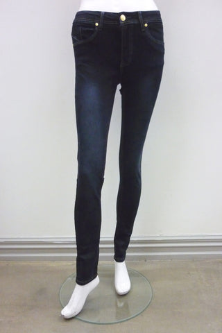 Vadar Zipper Skinny in Black