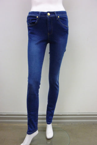 Vadar Zipper Skinny in Blue