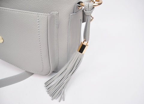 Messenger Bag in Dove Grey