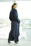 Caspian navy trench dress coat.