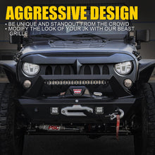 Load image into Gallery viewer, Beast Grille with Removeable Steel Mesh for Jeep Wrangler JK 2007-2018