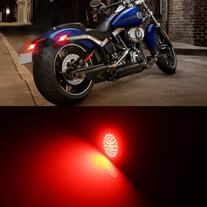 2pcs 1157 Front or Rear Turn Signal LED Bulb Running Light Insert Kit For Motorcycles