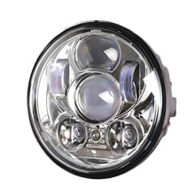 "Load image into Gallery viewer, Black Chrome 5.75 inch Motorcycle LED Headlights 5-3/4"" Headlamp with Parking Lights"