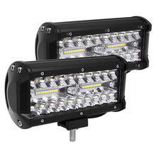 "Load image into Gallery viewer, 2Pcs 5""24 LED Light Bar Off Road Driving Work Spot Beam Fog Lights"