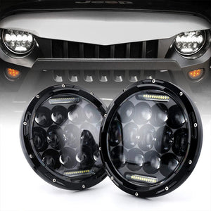 "7"" 75W CREE LED Headlights With DRL For 1998-2020 Jeep Wrangler JK/TJ/JL"
