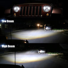 "Load image into Gallery viewer, 7"" LED Headlight With RGB Halos Bluetooth Control Lamp For Jeep Wrangler JK/TJ/LJ/JL & Gladiator JT"