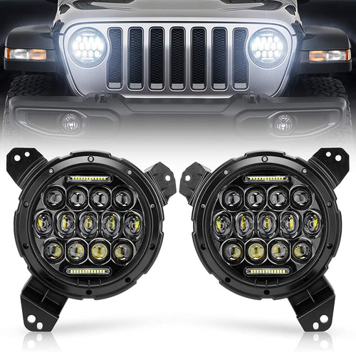 LED Headlights for Jeep Wrangler JL 2018 2019 2020 JLU and JT