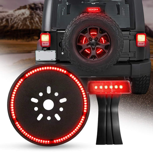 Third Brake Light+Spare Tire Brake Light for Jeep Wrangler JK 2007 - 2017