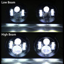 "Load image into Gallery viewer, 7"" Round CREE LED Headlights H4 H13 Projection Headlight Kit"