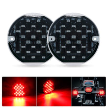 "Load image into Gallery viewer, SUPAREE 3 1/4"" Rear LED Turn Signals with 1156  Insert Kit for Harley Davidson"