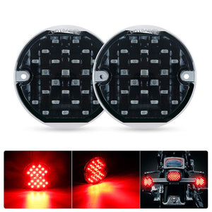 "SUPAREE 3 1/4"" Rear LED Turn Signals with 1156  Insert Kit for Harley Davidson"