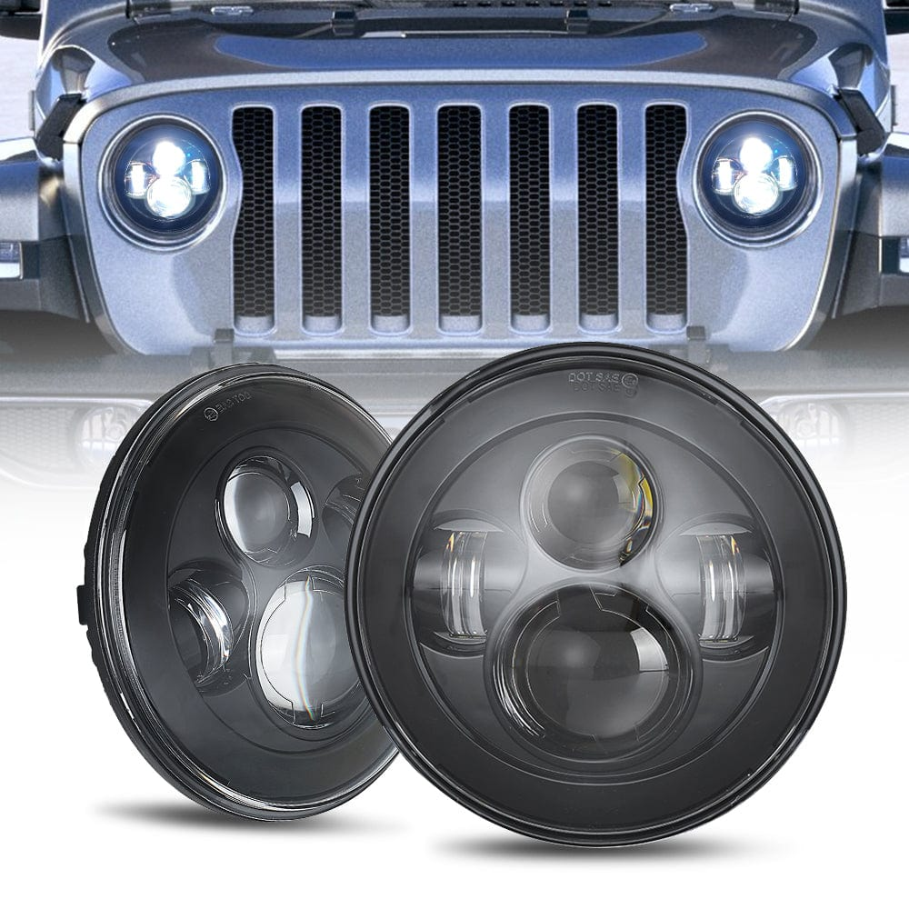 7 inch 60W CREE LED Headlights For 97-18 Jeep Wrangler JK/TJ/LJ/JL & Gladiator JT