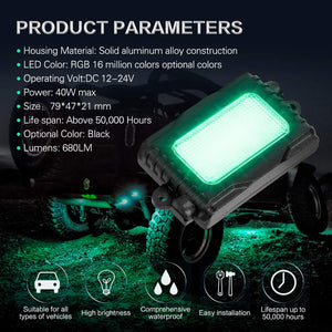 RGB LED Rock Light Kit 4PCS