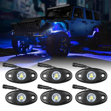 Load image into Gallery viewer, LED Rock Light Blue 6PCS