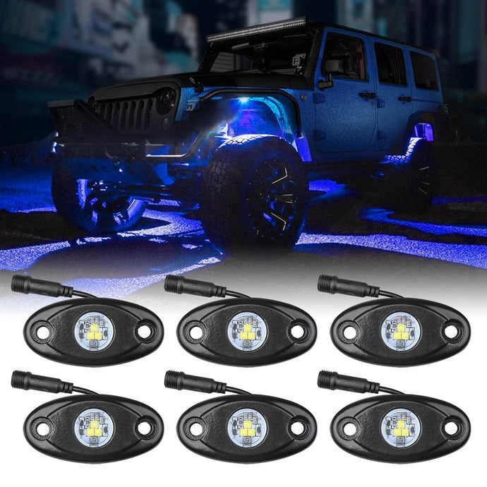 LED Rock Light Blue 6PCS