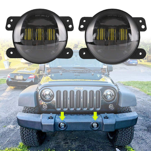 4inch 30W CREE LED Fog Lights For Jeep Wrangler JK/JL/JT