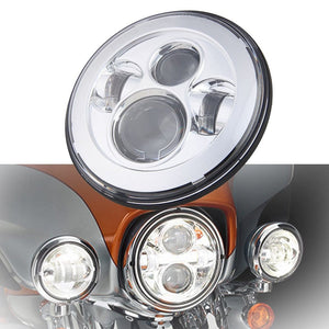 Black/Chrome 7 inch LED Headlight For Touring Ultra Classic Motorcycle