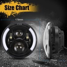 Load image into Gallery viewer, 7inch Round 50W Cree LED Hi/Lo Beam Headlights+2Pcs 4.5 Inch 30W CREE LED Fog Light