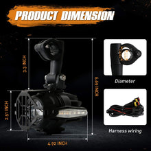 Load image into Gallery viewer, Motorcycle LED Auxiliary Lights With Amber Turn Signals Protect Guards Wiring Harness For BMW Motorcycle