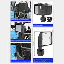 Load image into Gallery viewer, Tubular half Door with Side View Mirror Fit for 07-18 jeep Wrangler JK 4 Door Only