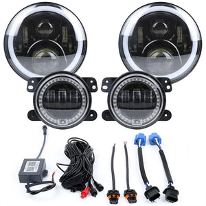"7"" LED Headlamp + 4"" RGB Fog Lights"