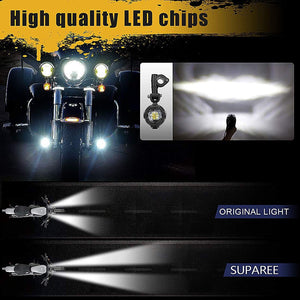 40W LED Auxiliary Lamp Fog Driving Light Kits For Motorcycle
