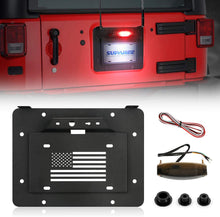 Load image into Gallery viewer, Spare Tire Delete License Plate Relocation Kit w/Plate Illuminate Light for 2007-2018 Jeep Wrangler JK & Unlimited