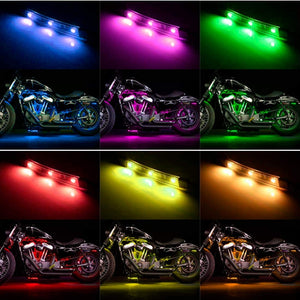 10Pcs Led Multi-Color Wireless Remote Control Motorcycle Atmosphere Lamp