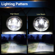 "Load image into Gallery viewer, 7"" Chrome Harley Led Headlight Bulb + 2Pcs 4.5 Inch 30W CREE LED Motorcycle Fog Light"