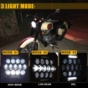 75W 7 inch CREE LED Motorcycle Headlights With DRL