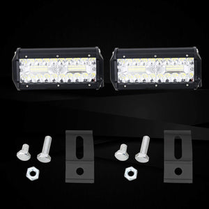 "2Pcs 5""24 LED Light Bar Off Road Driving Work Spot Beam Fog Lights"
