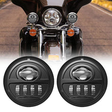 "Load image into Gallery viewer, 2pcs 4-1/2"" 4.5inch LED Motorcycle Fog Lights Spot Driving Lamps Auxiliary Light Bulbs"