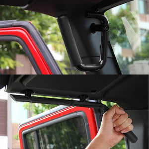 Front & Rear Grab Bar Handles for Jeep Wrangler JK JKU Unlimited 2007-2018