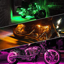 Load image into Gallery viewer, 10Pcs Led Multi-Color Wireless Remote Control Motorcycle Atmosphere Lamp