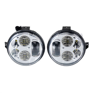 "Chrome 4.5"" H/L Beam LED Motorcycle Headlight For Kawasaki BRUTE FORCE 750 Teryx"