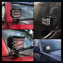 Load image into Gallery viewer, 4 inch Off-road Work Driving Lights Side Shooter LED Pods Light with Amber Flash Strobe For Jeep ATV SUV Truck