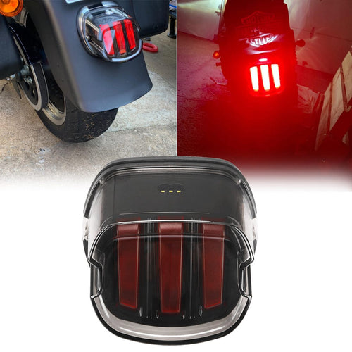 Smoked Motorcycle Taillights LED Brake Running License Plate Lights for Sportster Dyna Road King Road Glide