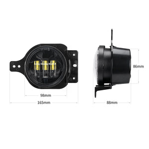 4 inch LED Fog Lights for 2018 2019 Jeep Wrangler JL with Mounting Bracket