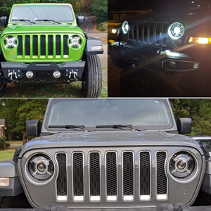 "9"" inch Round LED Headlights with DRL For 2018 2019 Jeep Wrangler JL Headlamps Replacement Kits"