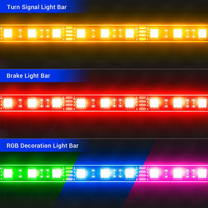 12Pcs Motorcycle LED Light Kit Strips Multi-Color RGB Neon Atmosphere Lights with Wireless Remote Controller