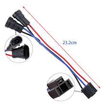 Load image into Gallery viewer, H4 to H9 H8 H11 Wire Harness Adapters Splitter Harness For Dual Beam Headlights Motorcycle