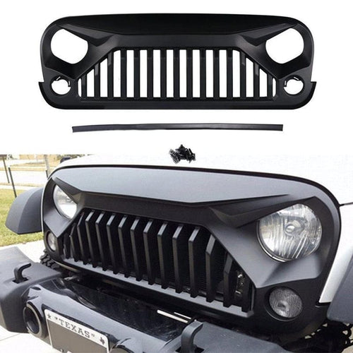 Gladiator Black Front Grille for 2007-2018 Jeep Wrangler JK